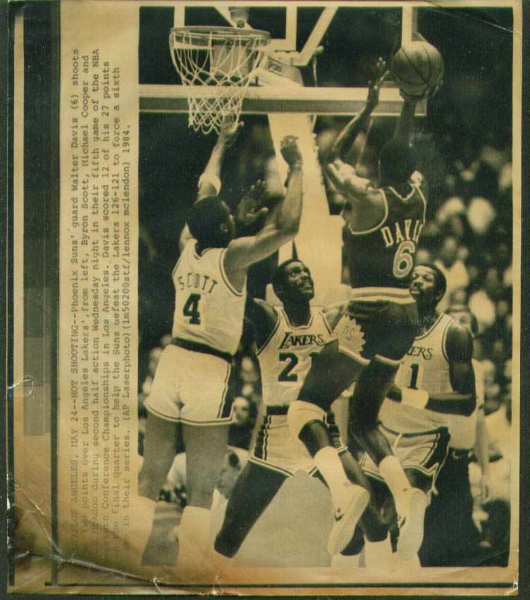 Suns Walter Davis v Lakers 1984 NBA Playoffs photo