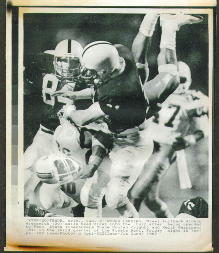 Penn State v U Miami FB Highsmith Fiesta Bowl photo '87