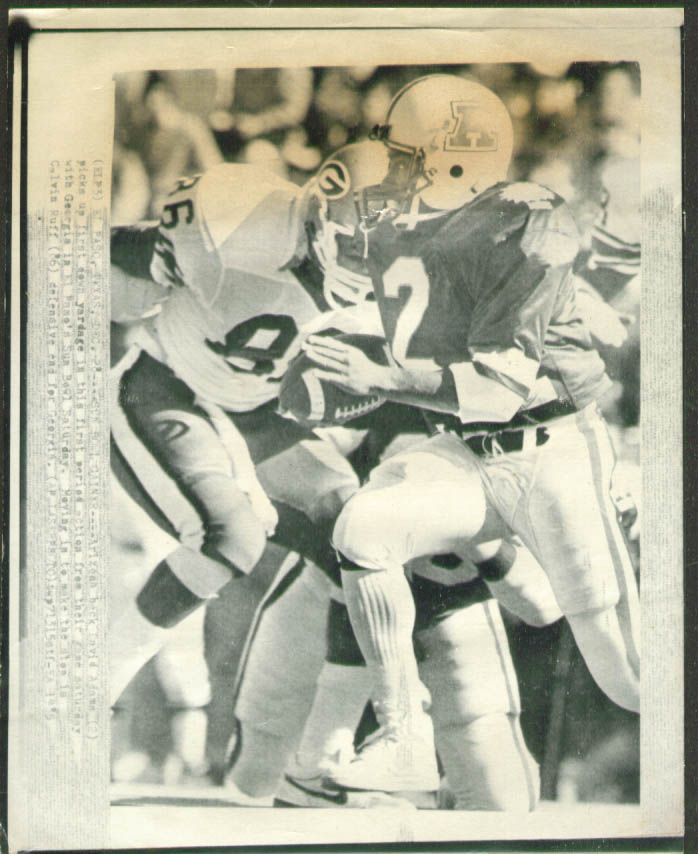 Arizona RB Adams gains v Georgia Sun Bowl photo 1985
