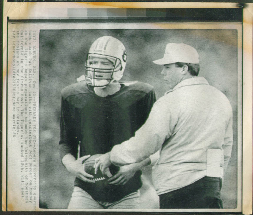 Auburn QB Burger pre Citrus Bowl v USC photo 1986