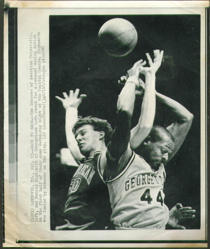 American U Scherer v Georgetown's Highsmith photo 1986