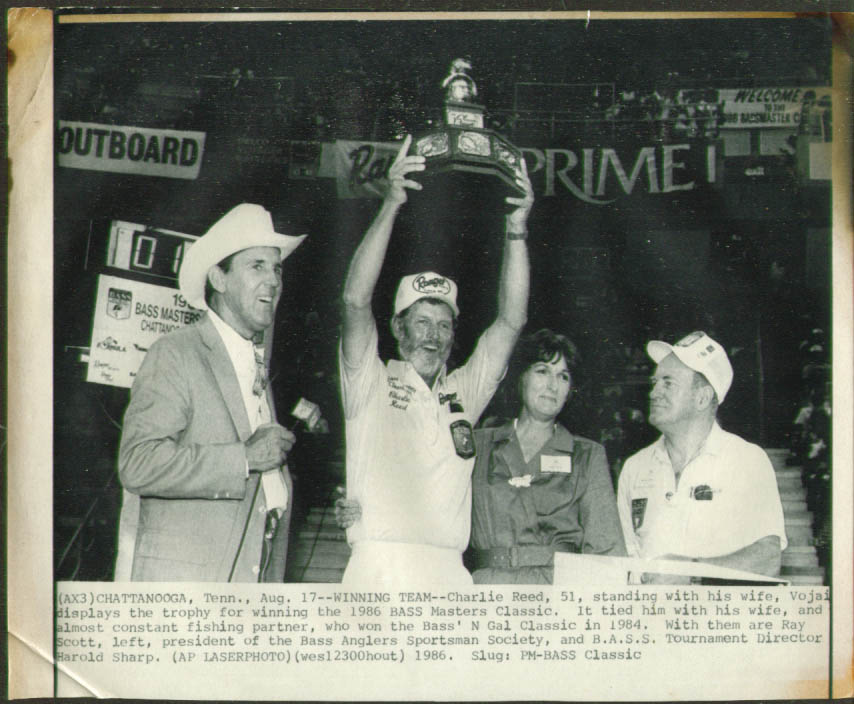 Charlie Reed wins 1986 Bass Masters Classic photo