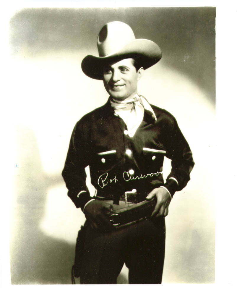 Western actor Bob Curwood in costume photo 1920s