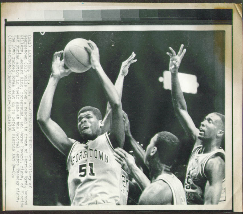 Georgetown's Ben Gillery v Florida A&M photo 1986