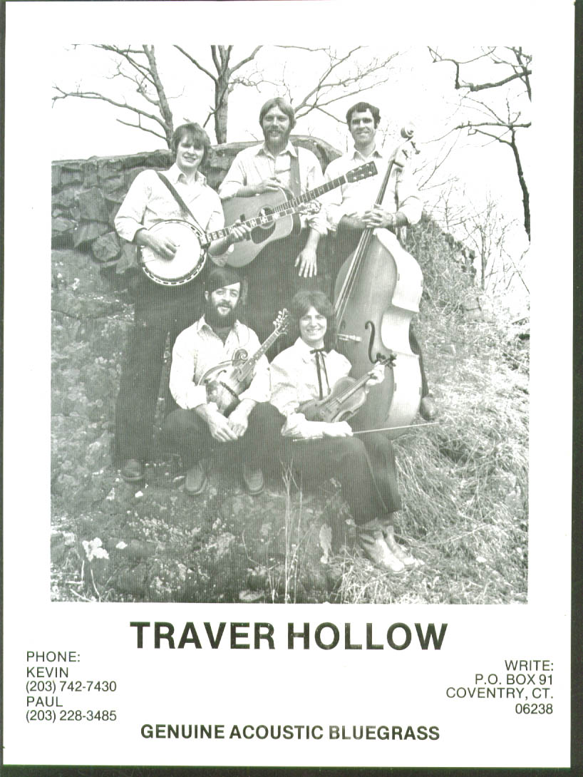 Bluegrass band Traver Hollow 8x10 picture 1970s