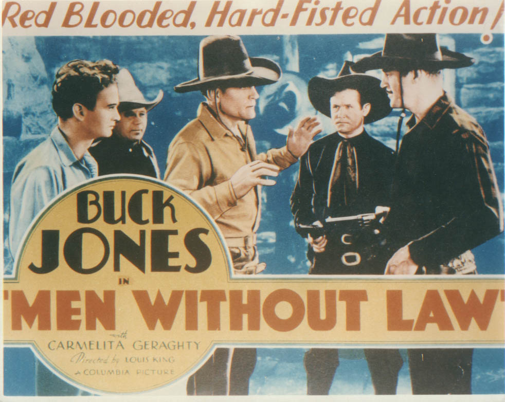 Image for Buck Jones Men Without Law 1930 Lobby Card 8x10