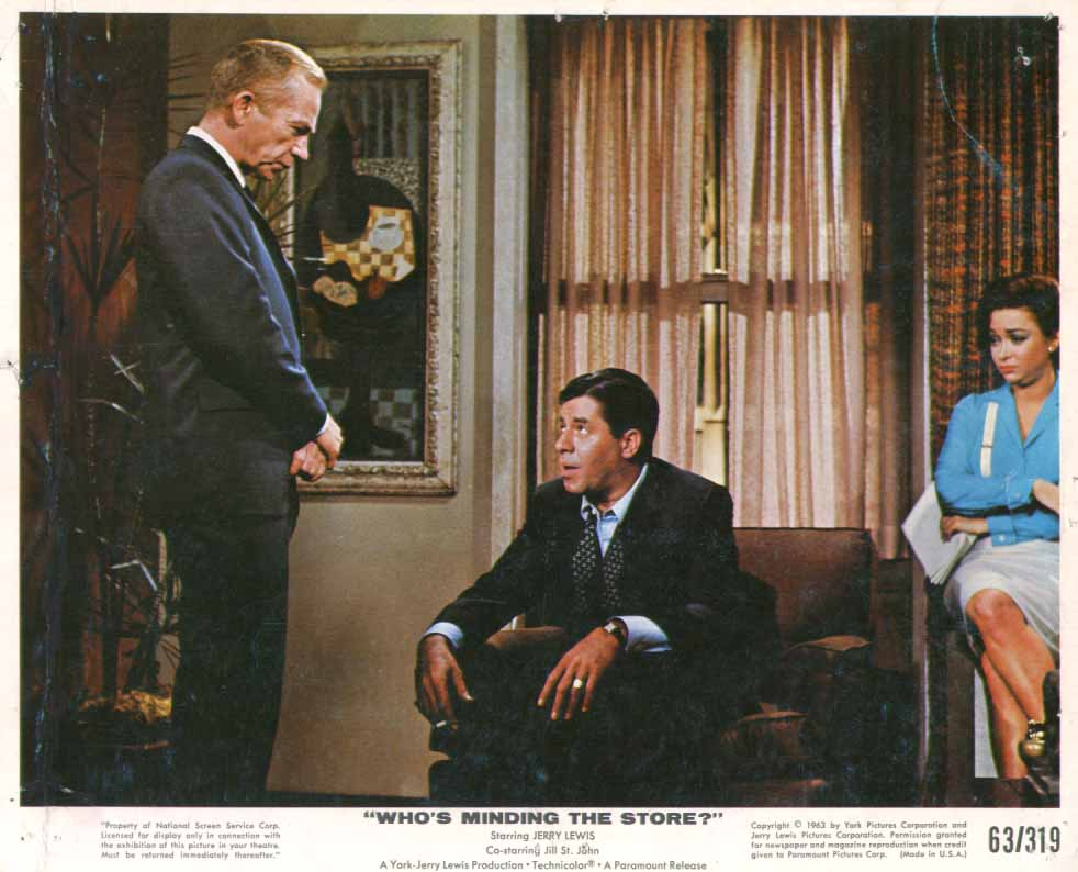 Image for Jerry Lewis Ray Walston Who's Minding the Store? 1963 8x10