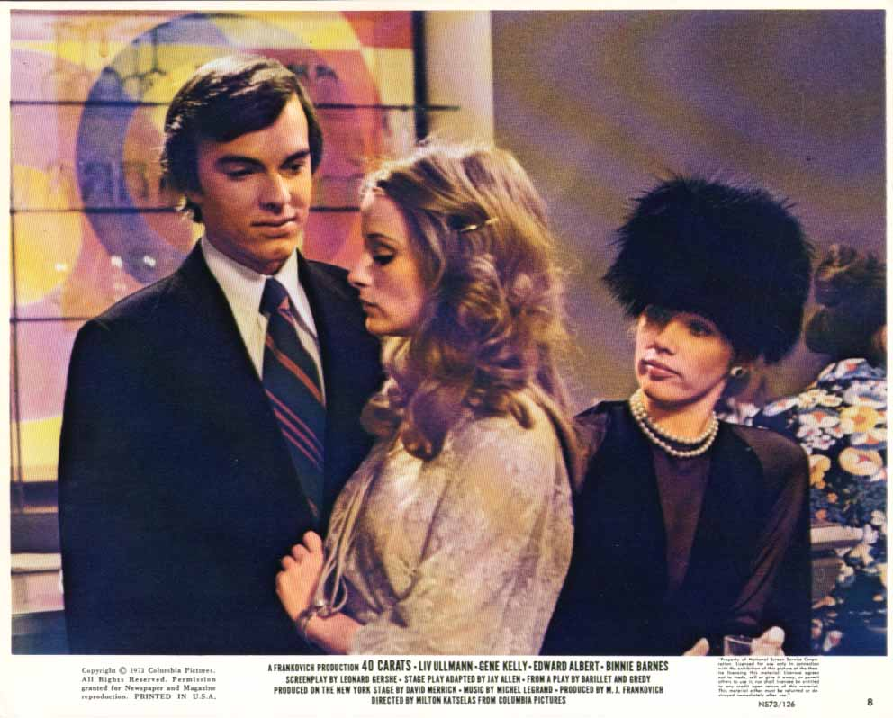 Image for Edward Albert Deborah Raffin 40 Carats 1973 8x10