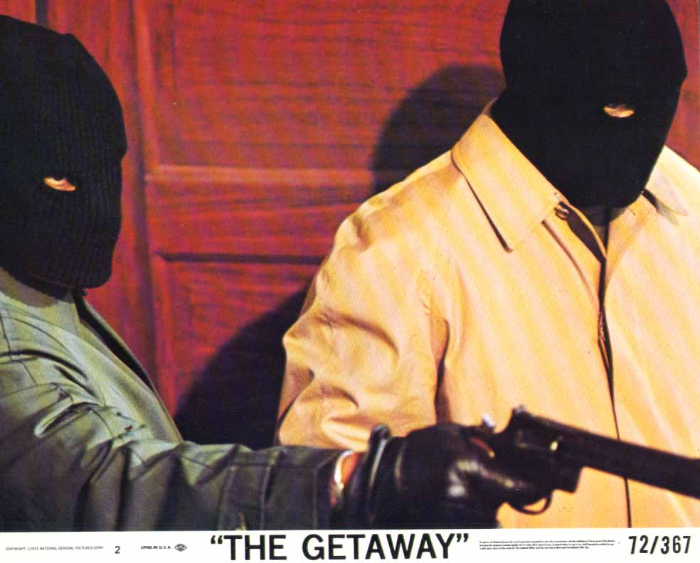 Image for Masked Gunmen The Getaway 1972 8x10 lobby card