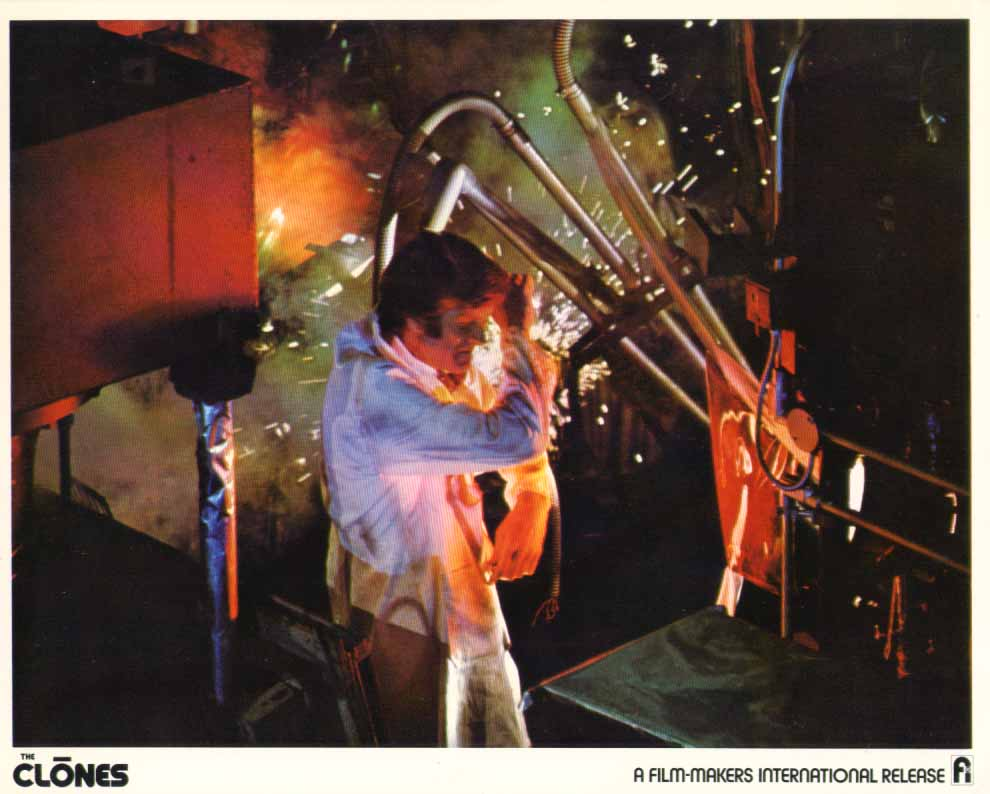 Image for Michael Greene laboratory explosion The Clones 1973 8x10