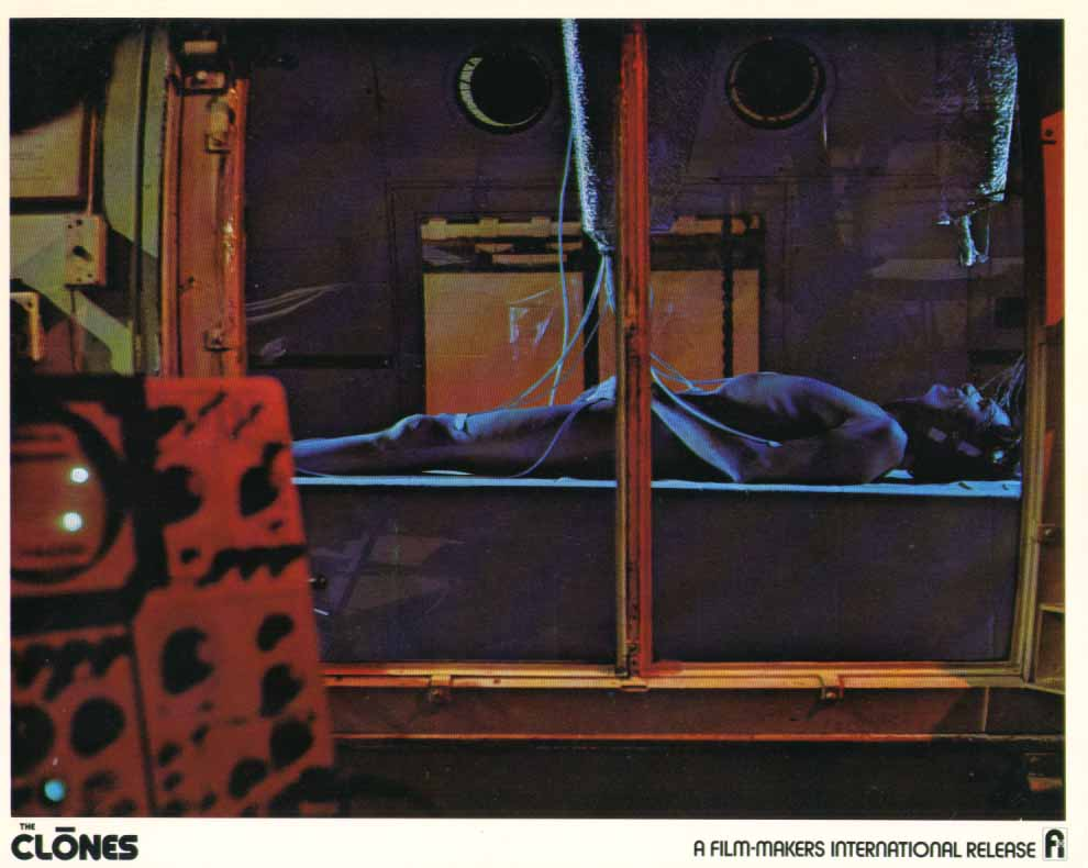 Image for Michael Greene nude on laboratory table in The Clones 1973 8x10