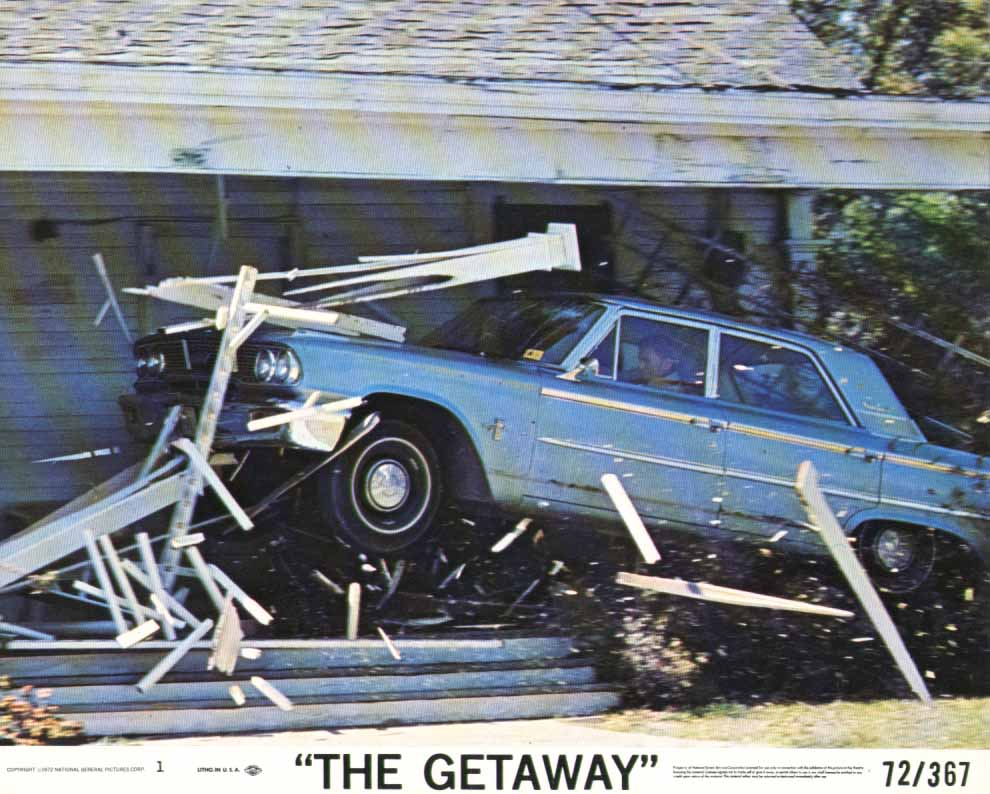 1963 Ford Galaxie crashing in The Getaway 1972 8x10