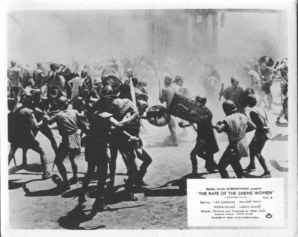 Image for A Riot The Rape Of The Sabine Women 1962 8x10 lobby card
