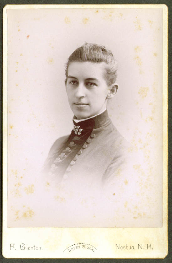 Maria A Richardson Cushing Academy Class 1889 cabinet
