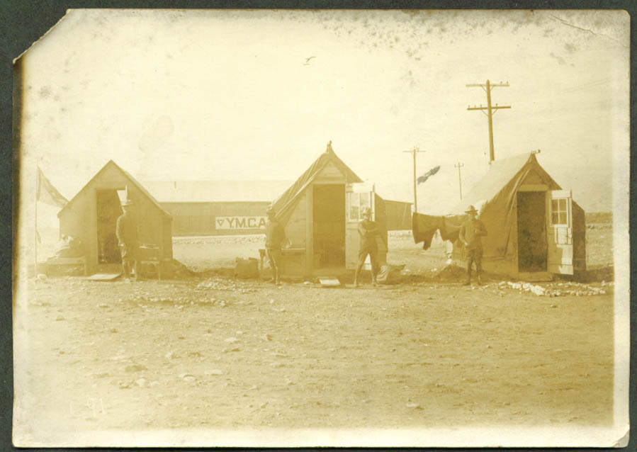 255th Field Artillery base huts YMCA Building photo 1910s