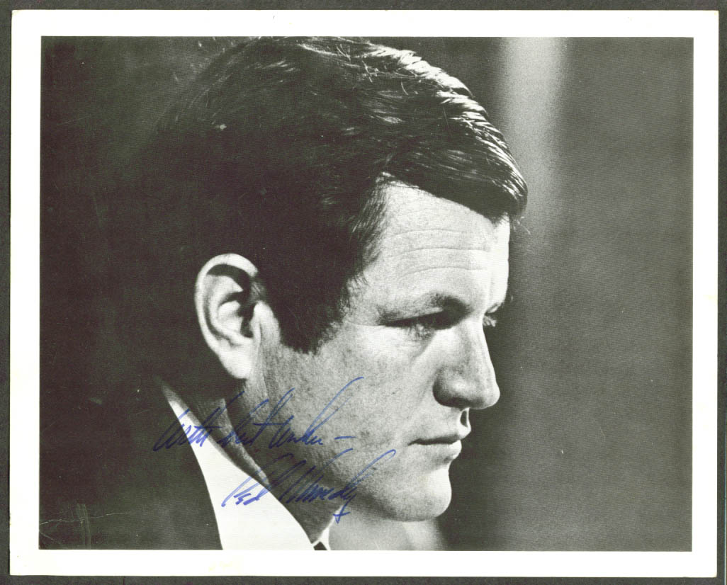 Edward M Ted Kennedy AUTOGRAPHED 8x10 picture
