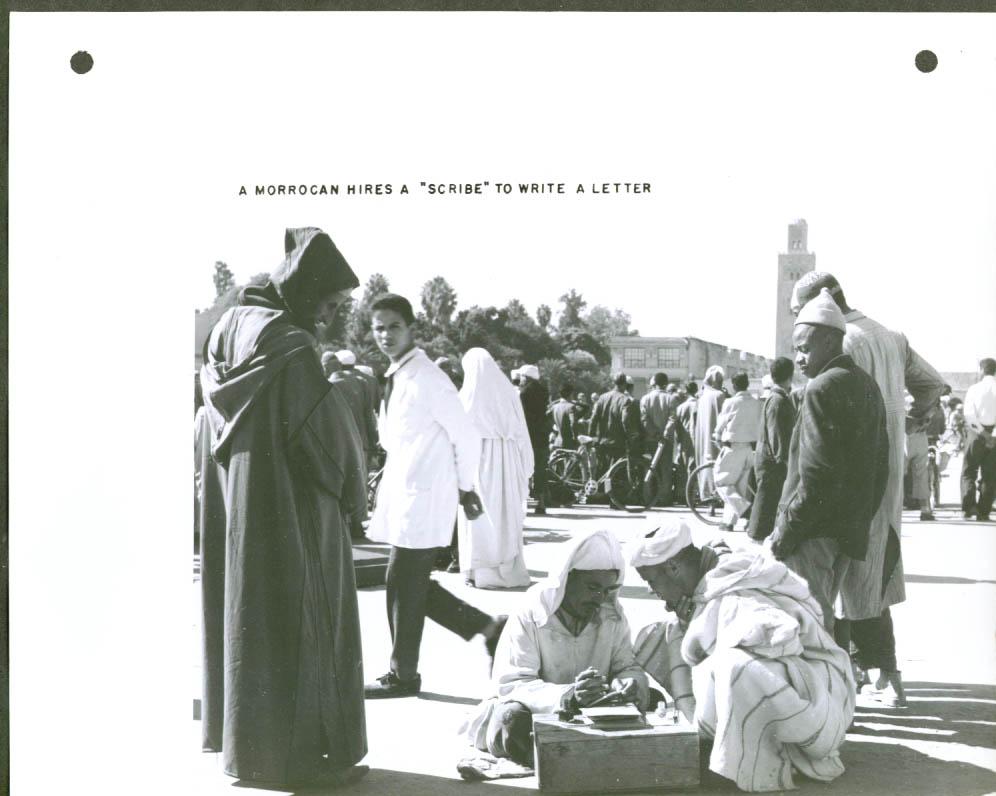 Moroccan hires scribe Marrakech 8x10 1957