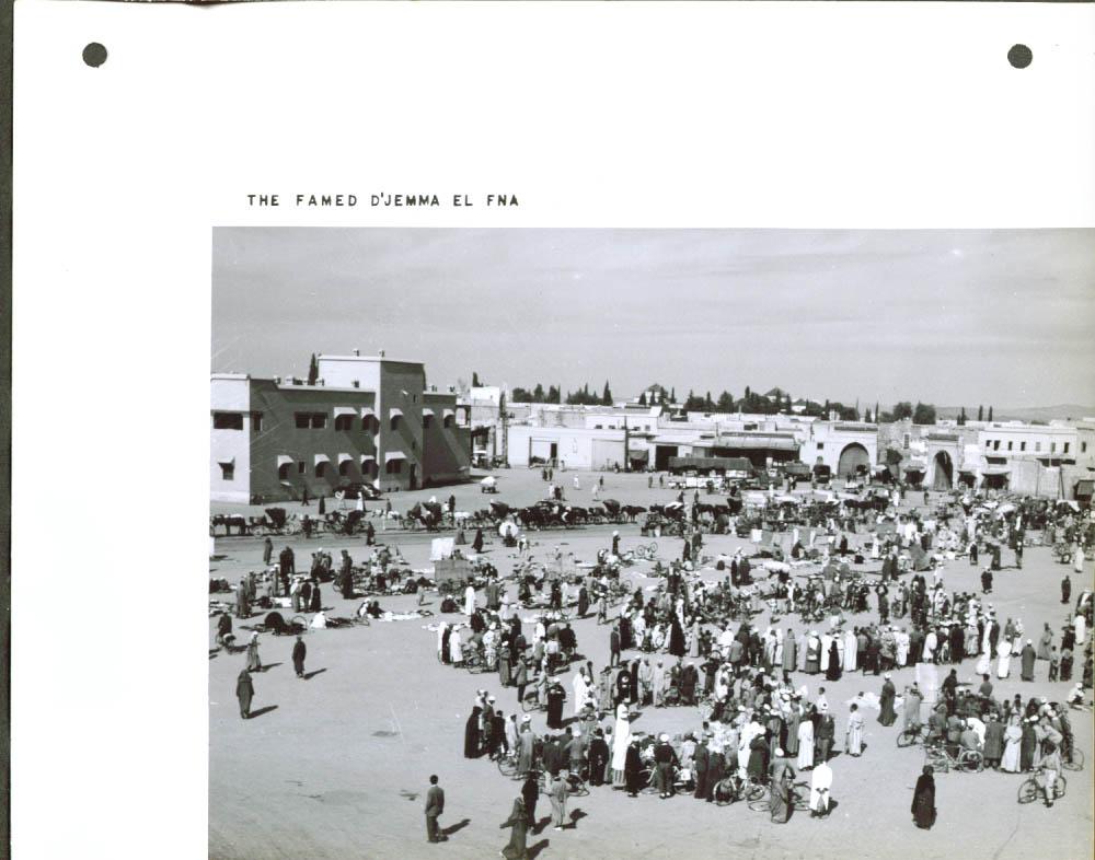 D'Jemma El Fna Market Marrakech Morocco 8x10 1957 #1