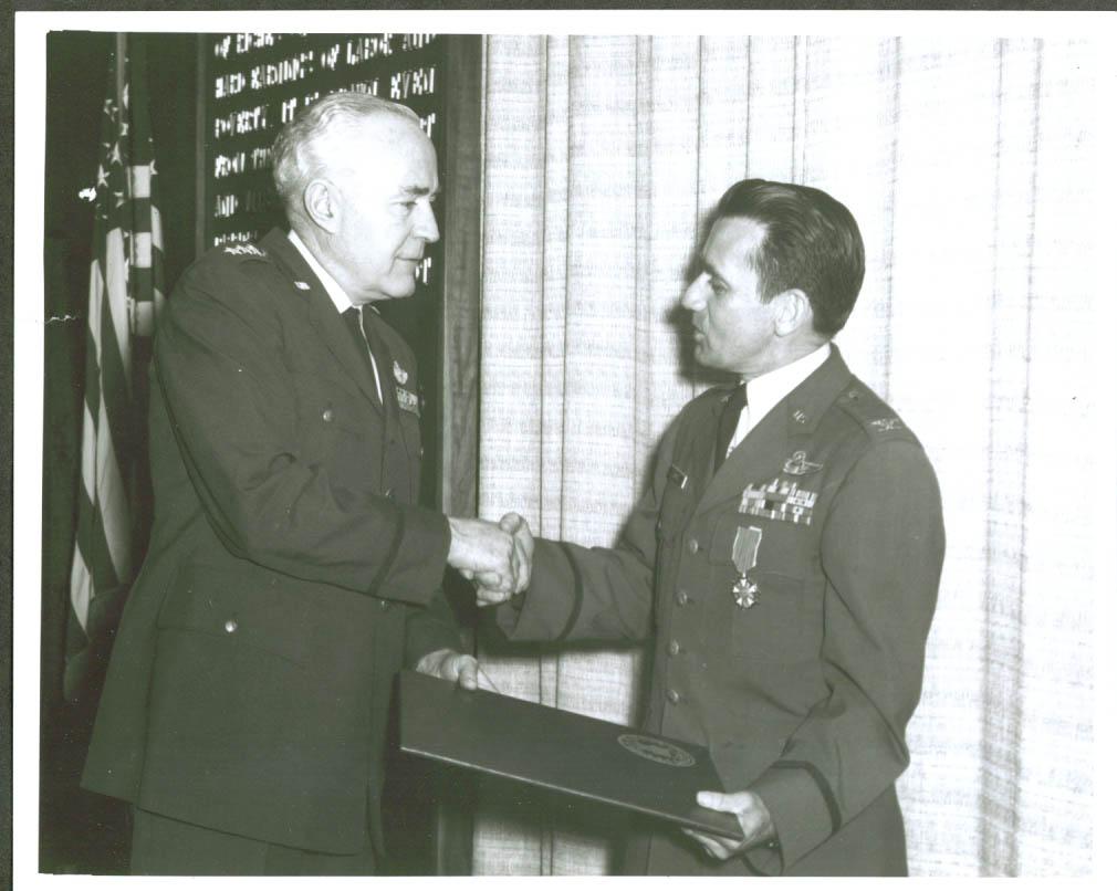 Gen Lewis Mundell Col Andrew Juhasz 8x10 1969 #2