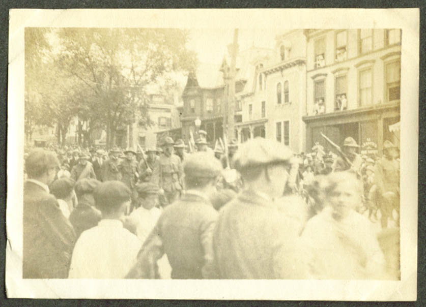 Meriden CT troops bound for Mexico parade 1916 photo #2