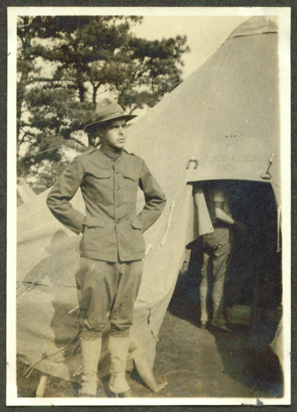 Meriden CT GI Good Luck Inn Tent bound for Mexico 1916
