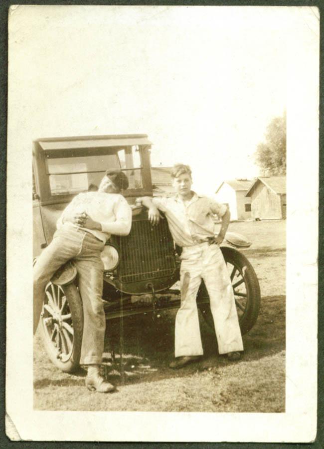 Phil Van Anthony Kenney Martin & car Detroit photo 1930