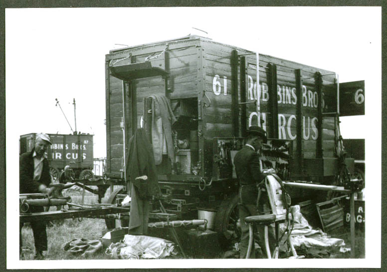 Maintenance Wagon Robbins Bros Circus backlot 1938
