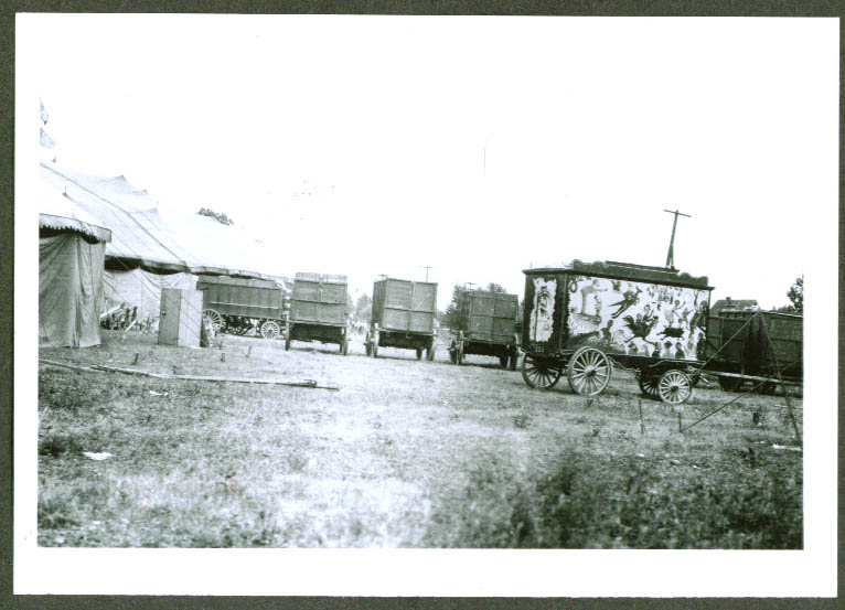 Clown Wagon & others John Robinson Circus backlot 1920