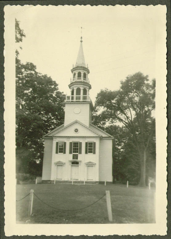 1761 Congregational Church South Britain CT photo 1952