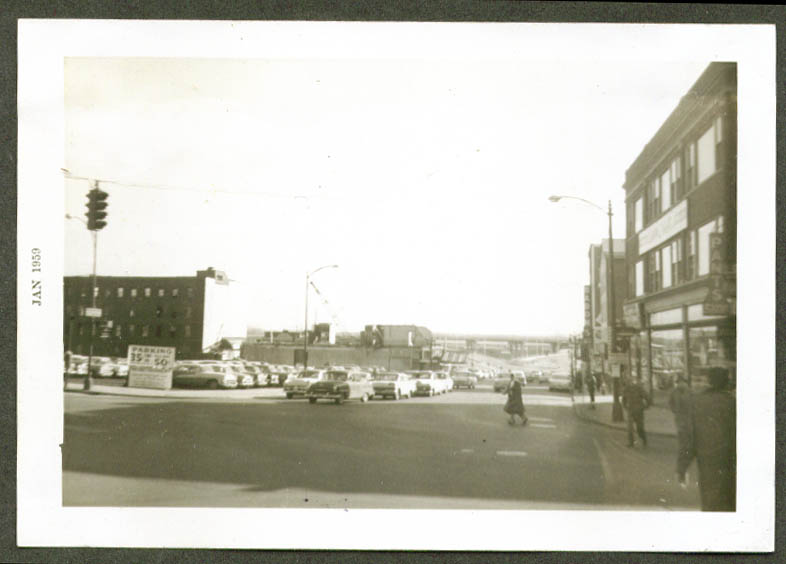 State & Market view to river Hartford CT ca 1960