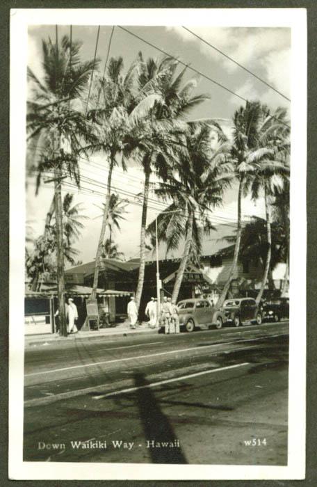 Wong? Fa Inn Ice Cream Stand Waikiki HI RPPC 1945