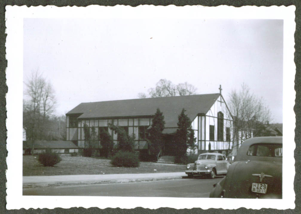 1942 Plymouth at church Bridgeport CT photo