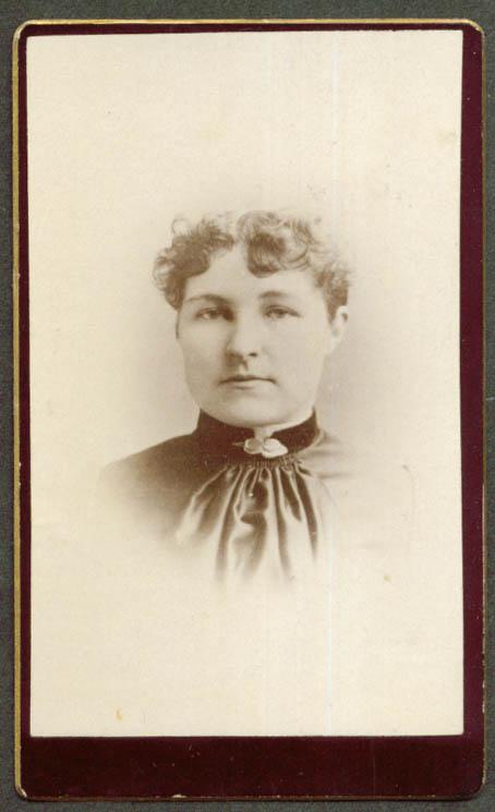 Bertha Sawyer CDV Burlington VT area 1860s