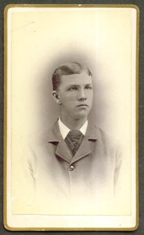 Ed Miller CDV by Burlington Photo Co VT 1860s