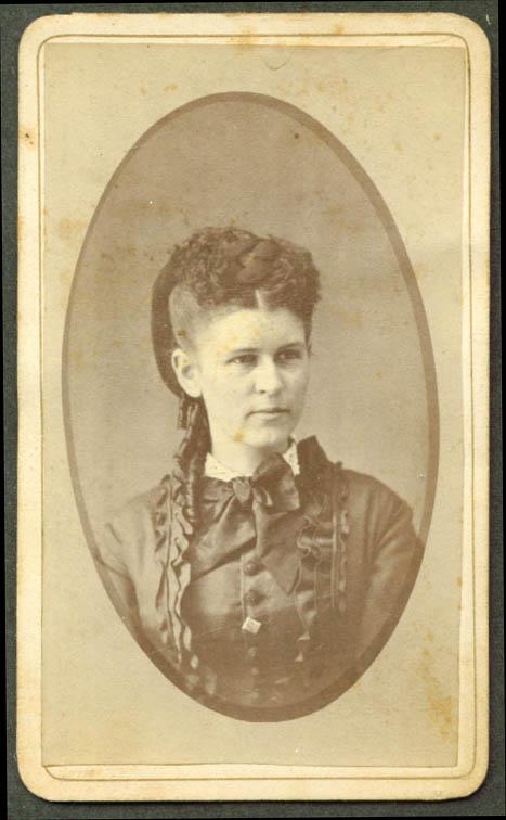 Clara W Page CDV by A E Rand Hyde Park VT 1860s