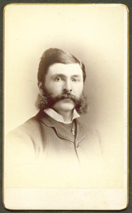 Frank P Keeler CDV by L A Atwood Burlington VT 1860s