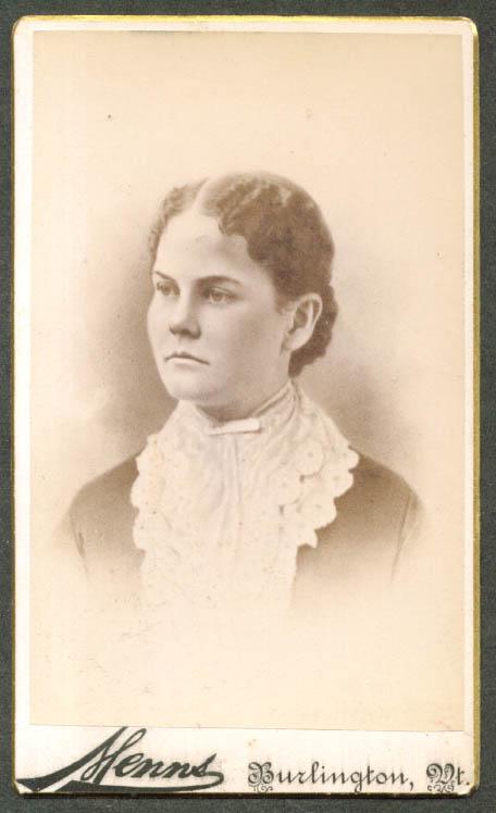 Nettie (Andrews) Ferguson CDV Menns Burlington VT 1860s
