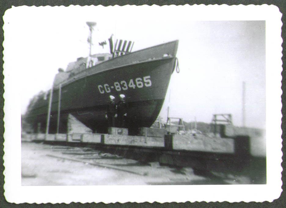 USCG Rescue Cutter CG-83465 drydock photo 1944 #1