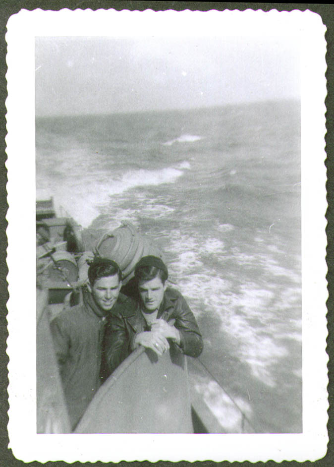 2 crewmen jackets at speed USCG CG-83465 photo 1944