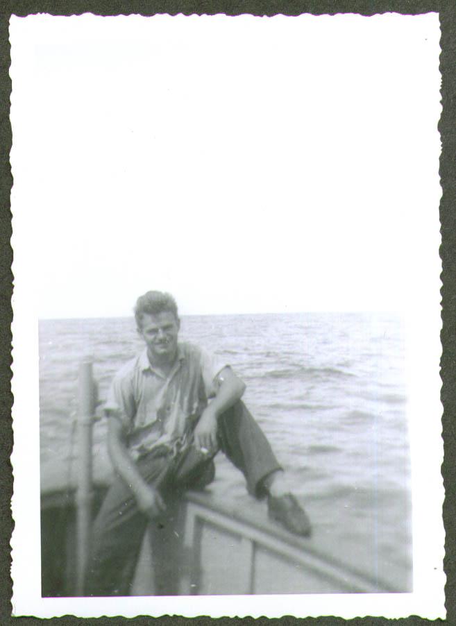 Joe Erdick at ease smoking USCG CG-83465 photo 1944