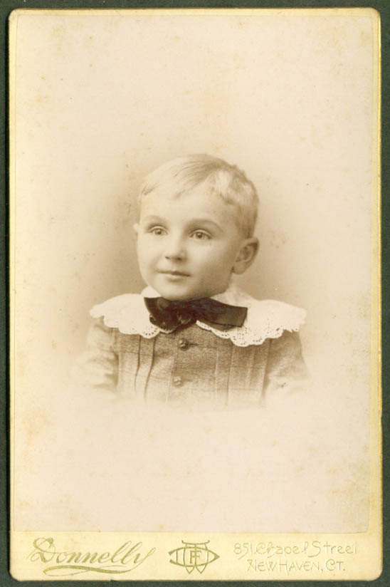Irving Edwin Tuttle age 5 cabinet Donnelly New Haven CT