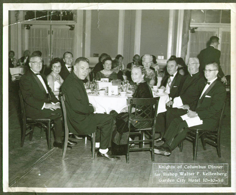 Knights of Columbus Dinner for Bishop Kellenberg Garden City NY 1959