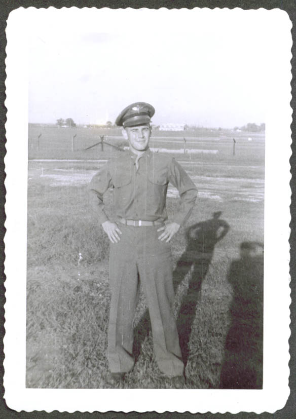 USAAF airman in uniform Camp McCoy WI photo 1943