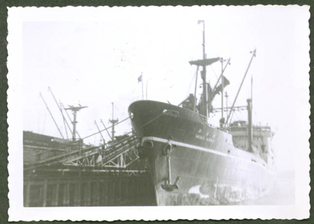 Japanese freighter Heian Maru at dockside photo