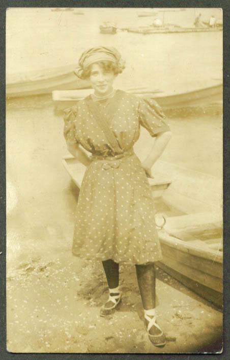 Phina Josie Adler swimming costume Summer 1911 RPPC