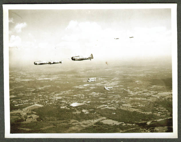 Eight Texan AT-6 Trainers in formation photo ca 1943