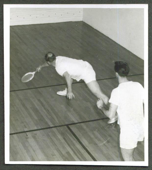Squash match Meriden YMCA photo 1967 CT