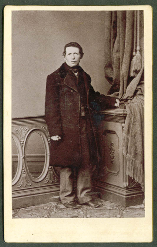 Mr Kirby in greatcoat cabinet photo ca 1890s
