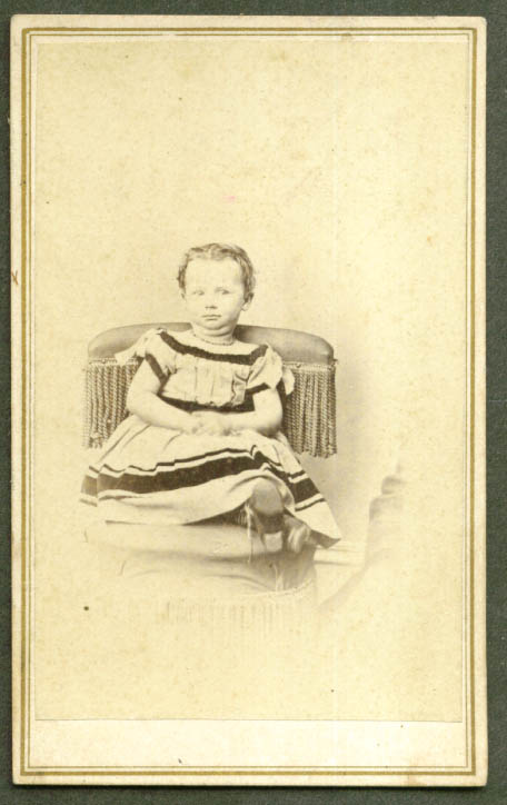 Seated girl double chin CDV Waite Hartford CT