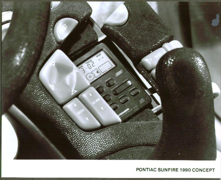 1990 Pontiac Sunfire Concept Car 8x10 radio controls
